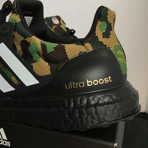 0cafdfc84ed48 Bape Shoes - BAPE x Adidas Ultra Boost 4.0 Green Camo